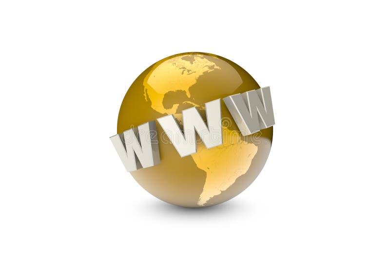 globalization Sistema de comunicação internacional Criação e ilustração royalty free