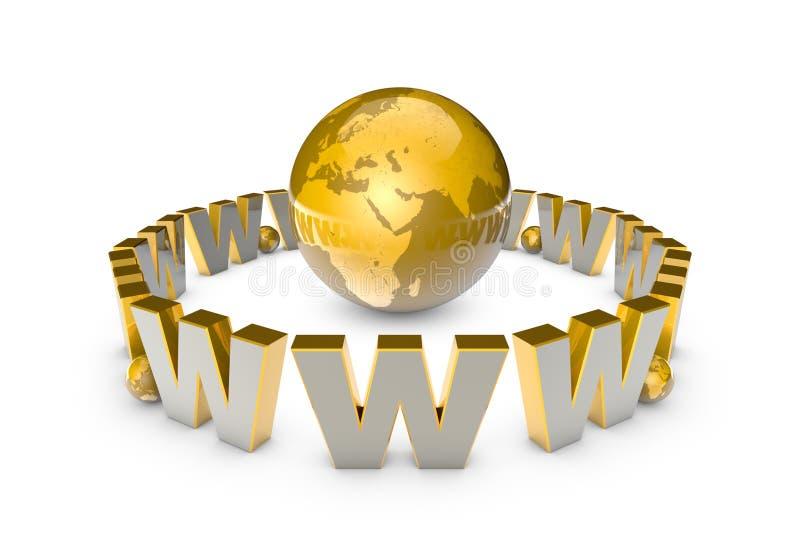 globalization Sistema de comunicação internacional Informati novo ilustração stock