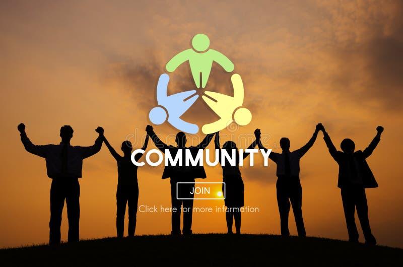 Globalizujący społeczności jedności sieci Podłączeniowy pojęcie zdjęcie stock
