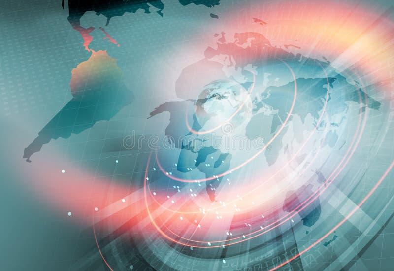 Globalna łączliwość i Narastający Biznesowy tło royalty ilustracja