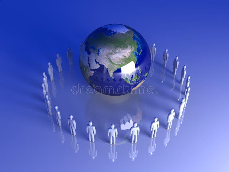 globalna Asia drużyna ilustracji
