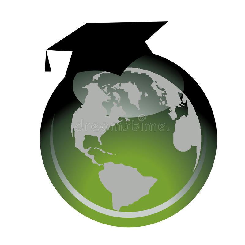 Globalna Edukacja ilustracja wektor