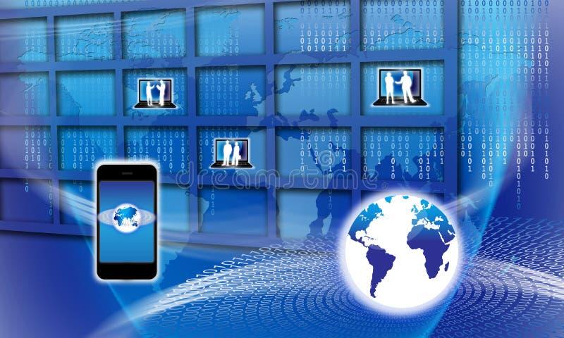 globalna ewidencyjna bezpiecznie technologia ilustracja wektor