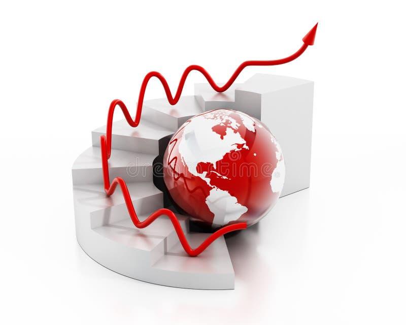 Globalna finansowa mapa ilustracji