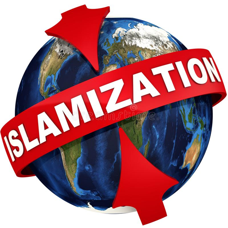 Globalna islamizacja ikona royalty ilustracja