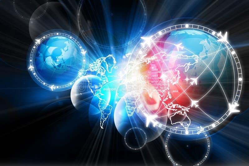 Globalna lot ścieżki sieć ilustracji