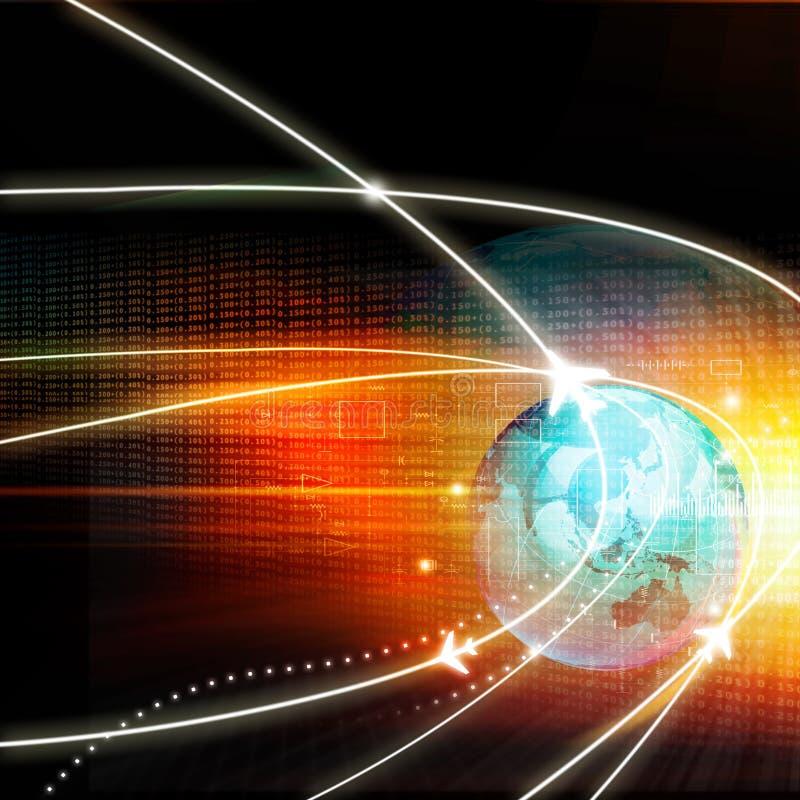 Globalna lot ścieżki sieć ilustracja wektor