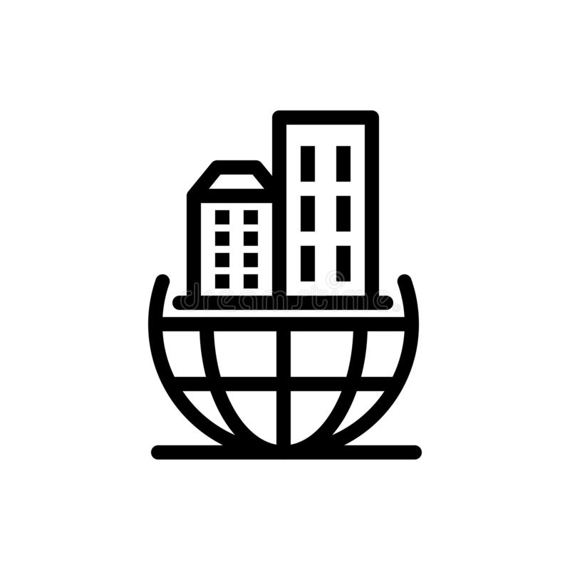 Globalna organizacja, architektura, biznes, Podtrzymywalny sieci Widget karty szablon, Błękitnej, Czerwonej i ściągania i zakupu  royalty ilustracja