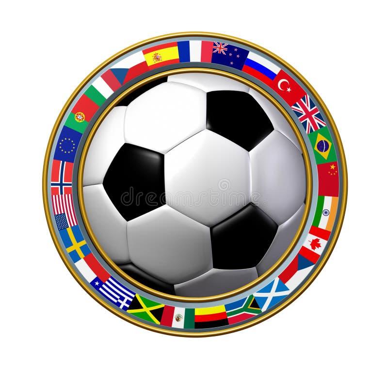 globalna piłka nożna ilustracja wektor