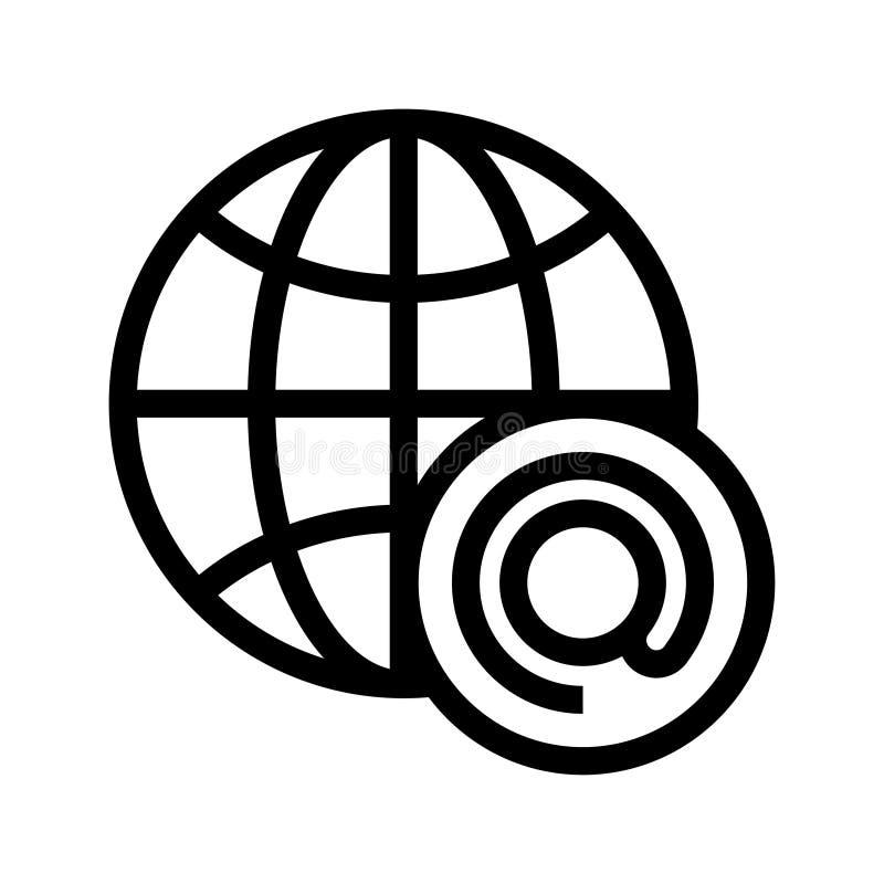 Globalna poczta wektoru linii ikona ilustracji