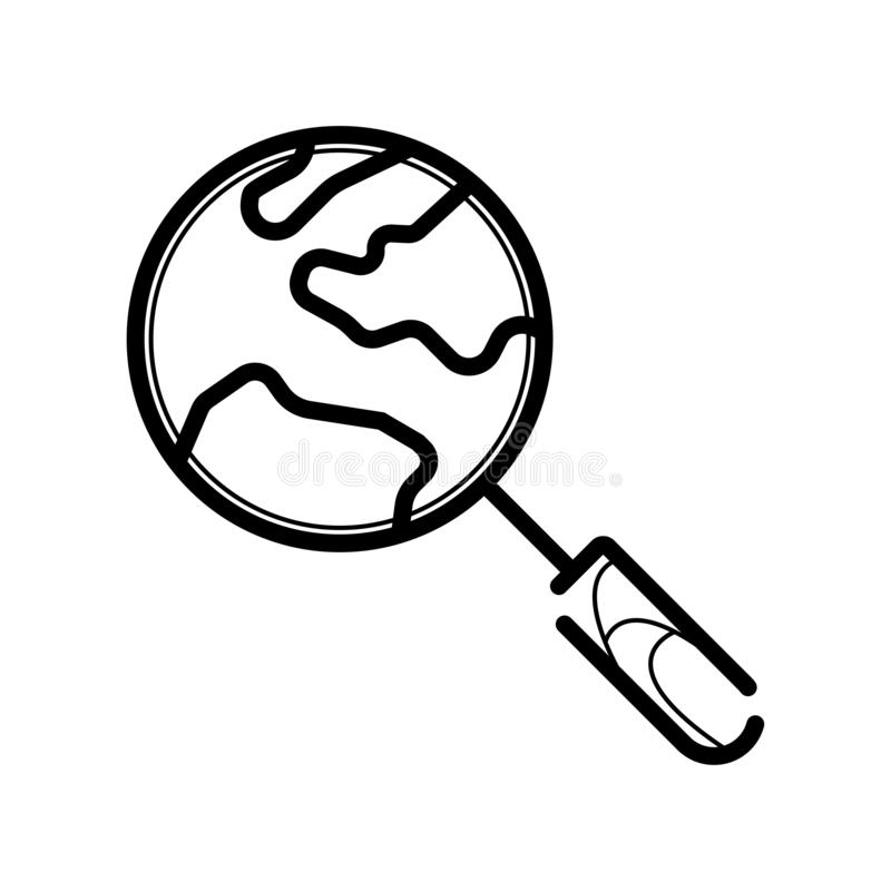 Globalna rewizja wektoru ikona ilustracja wektor