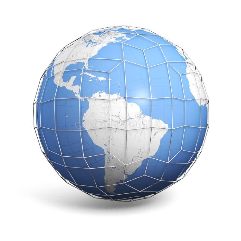 Globalna siatka ilustracja wektor