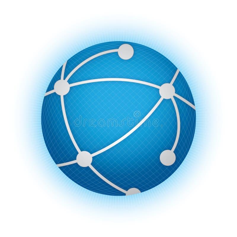 globalna sieć ilustracja wektor