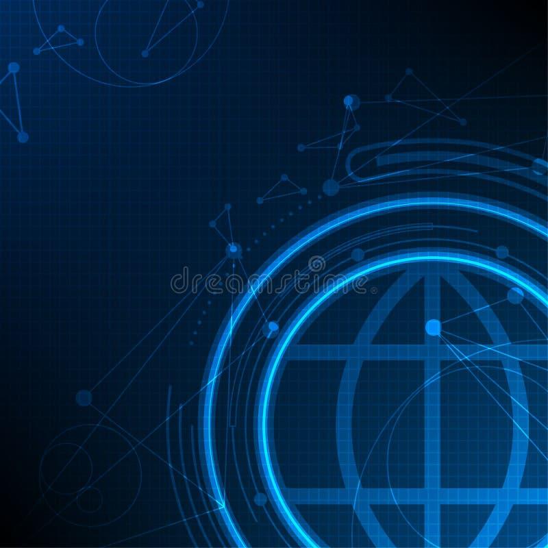 Globalna technologii sieć, abstrakcjonistyczny telecoms przyszłości tło ilustracji