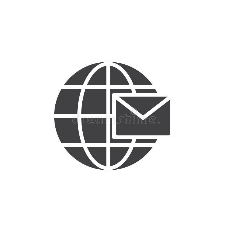 Globalna wiadomość wektoru ikona ilustracja wektor