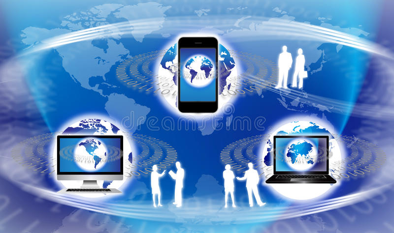 globalna wyposażenie technologia ilustracja wektor