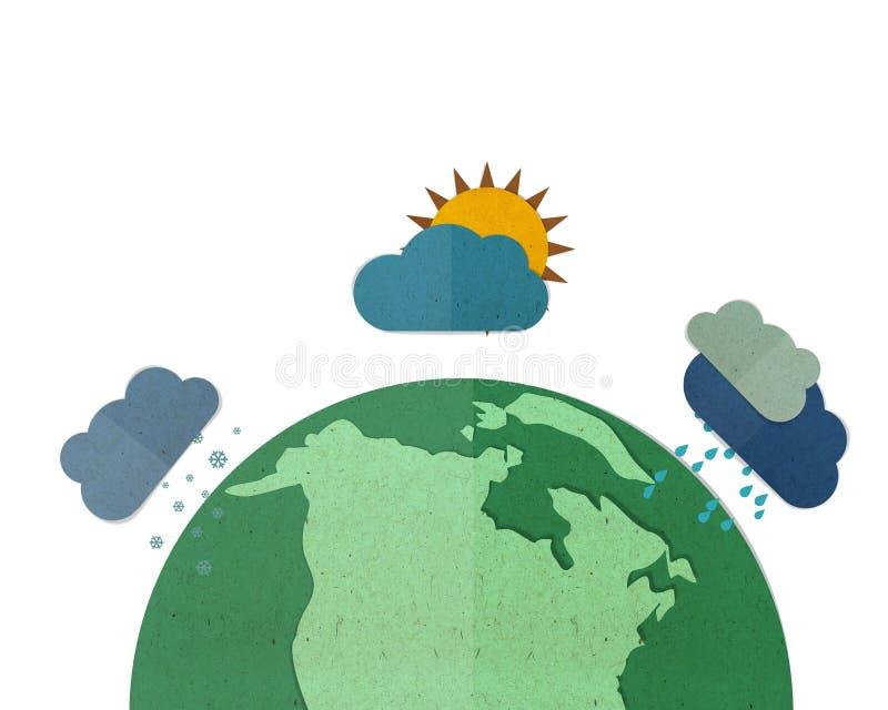 Globalna zmiana klimatu royalty ilustracja