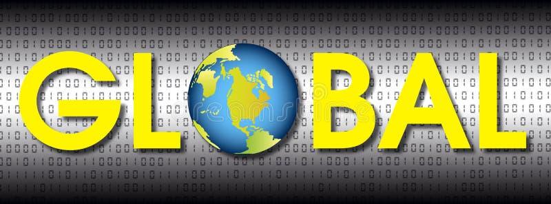globalne ilustracja wektor