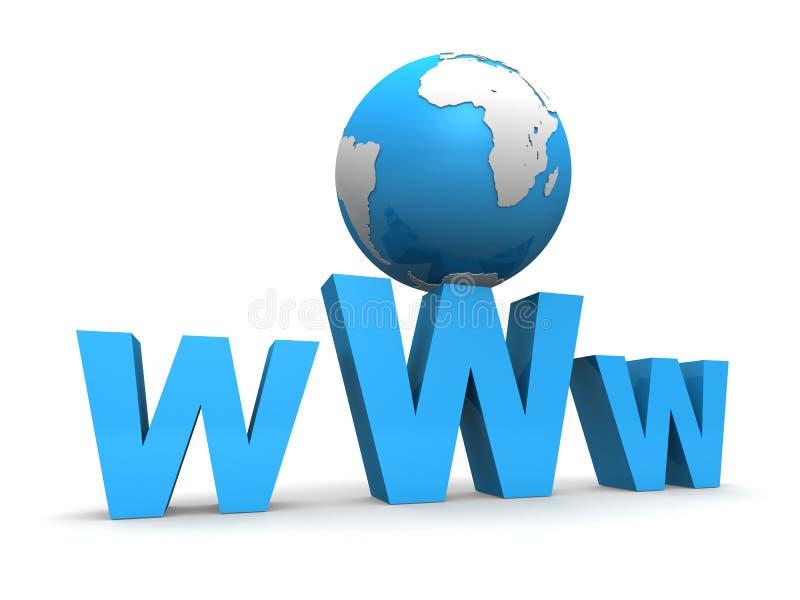 globalne internetu royalty ilustracja