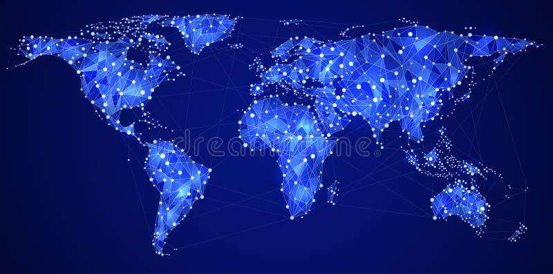 Globalne komunikacje royalty ilustracja