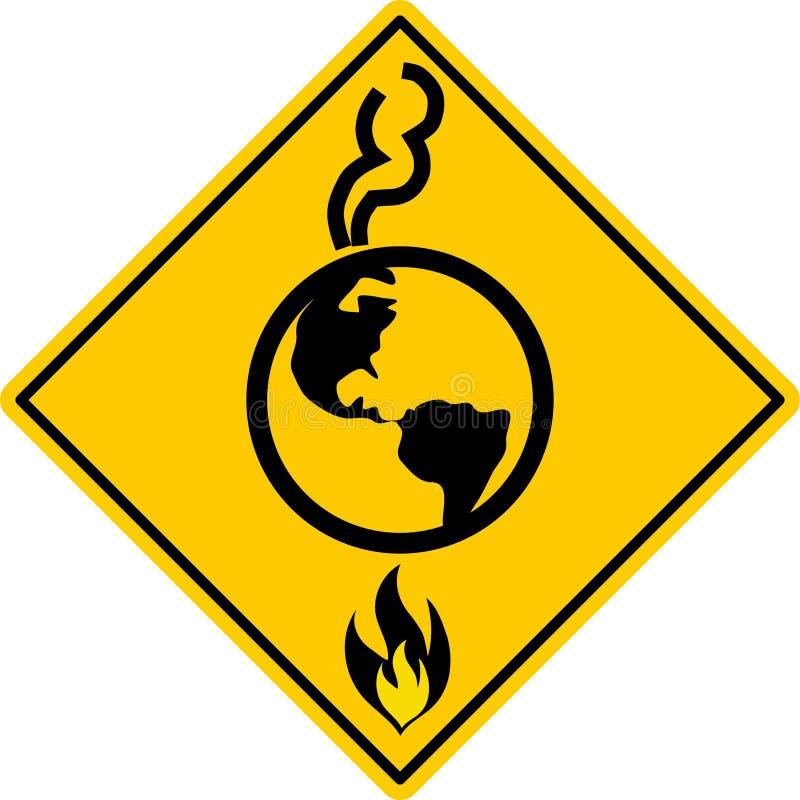 globalne ocieplenie, ilustracja wektor