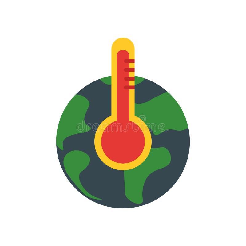 Globalne ocieplenie ikony wektoru znak i symbol odizolowywający na białym tle, globalne ocieplenie logo pojęcie royalty ilustracja