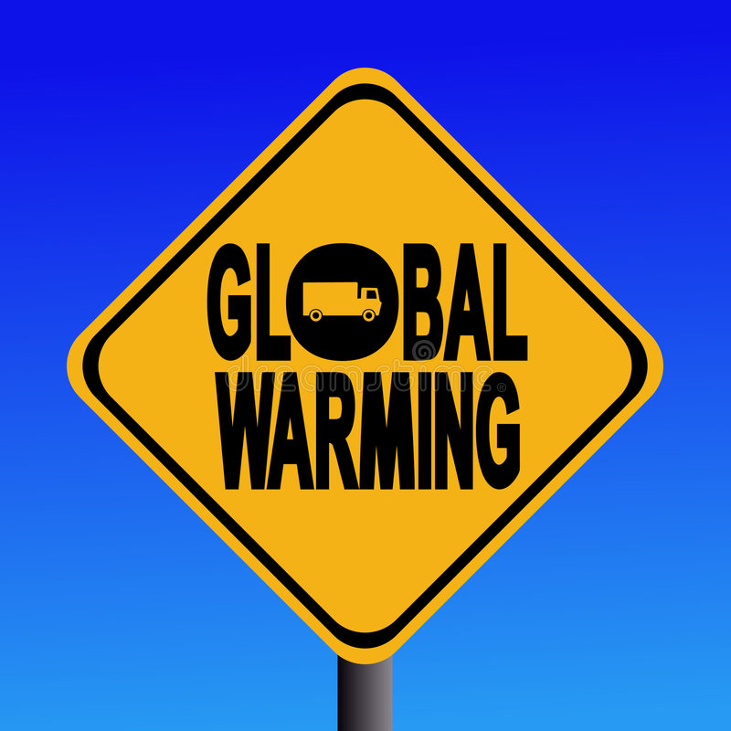 globalne ocieplenie znak ciężarówki ilustracja wektor