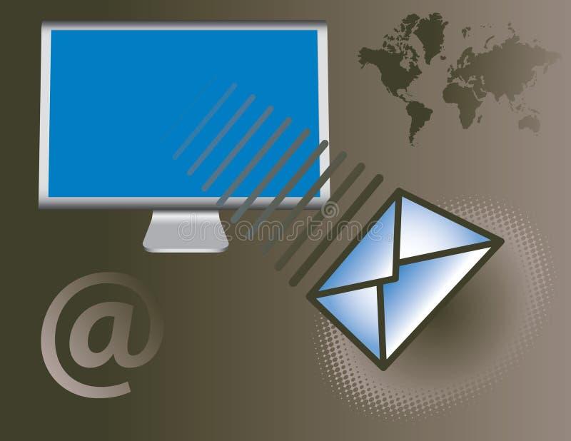 globalne usługi e - mail royalty ilustracja