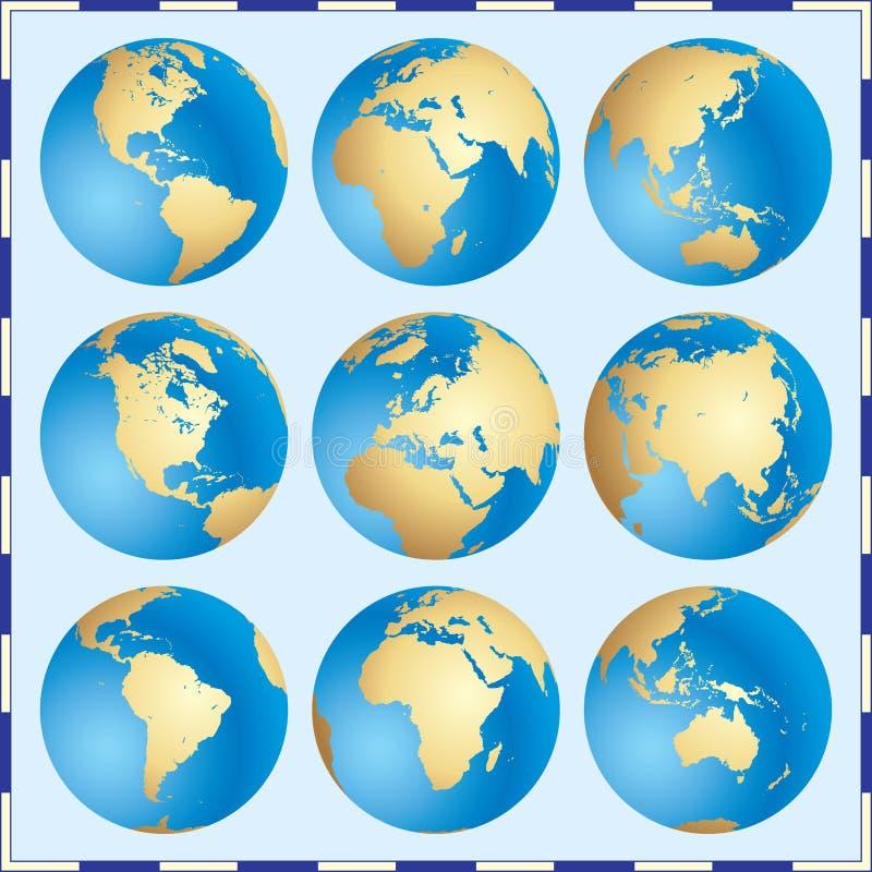 globalne zestaw royalty ilustracja