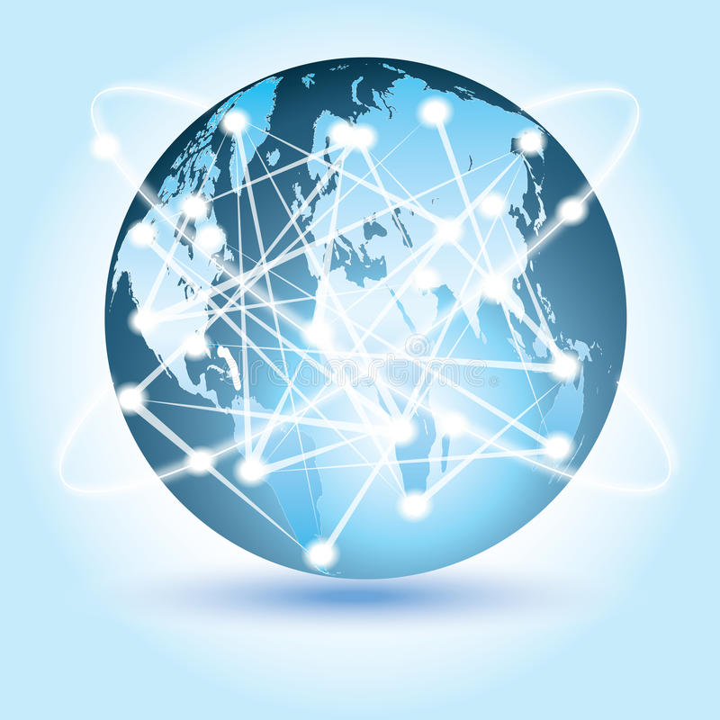 Globalne Związane technologie obrazy royalty free