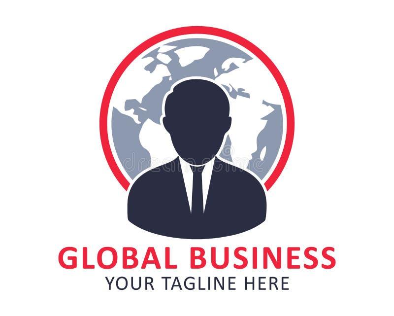 Globalnego biznesu logo ilustracja wektor