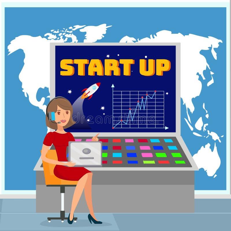 Globalnego biznesu planu rozwojowego wektoru ilustracja ilustracji