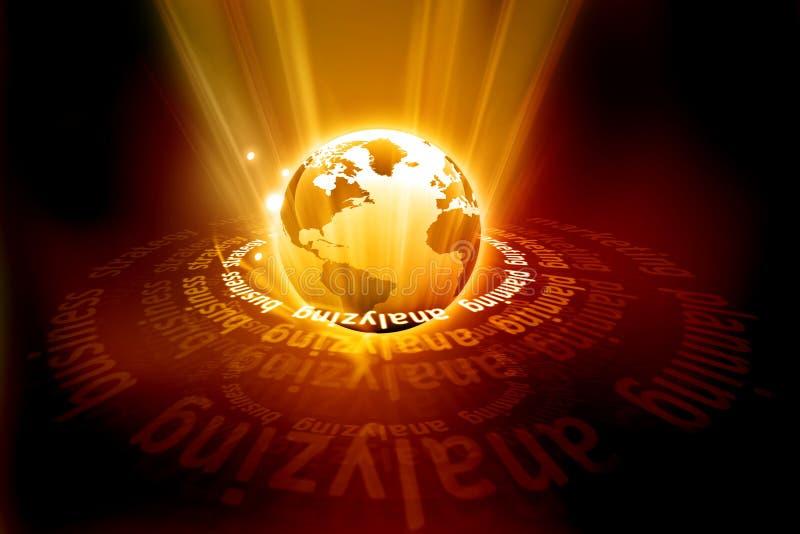 Globalnego biznesu pojęcie royalty ilustracja