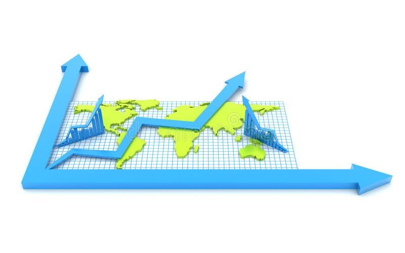 Globalnego biznesu sieci pojęcie ilustracji
