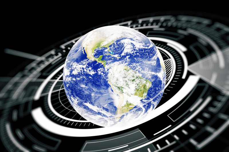 Globalnego biznesu technologii pojęcie ilustracji