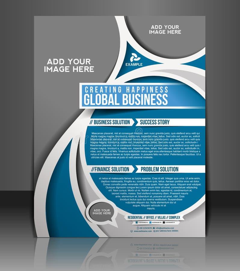 Globalnego biznesu ulotki projekt ilustracji