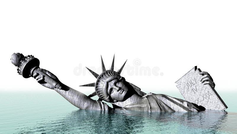 Globalnego nagrzania abstrakta pojęcie ilustracji
