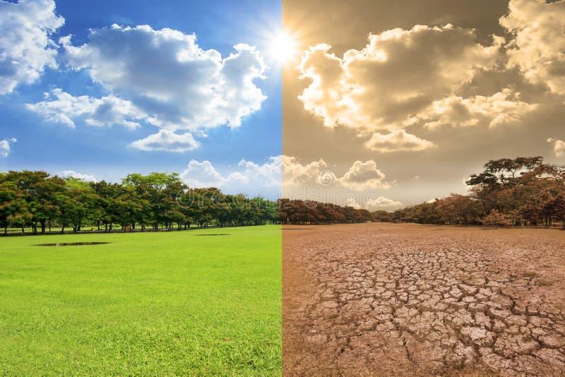 Globalnego nagrzania pojęcia wizerunek pokazuje skutek środowisko obraz royalty free