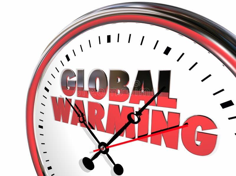 Globalnego nagrzania zegaru temperatury Wzrasta zmianę klimatu ilustracji