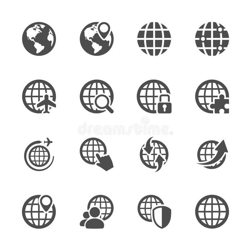 Globalnej komunikaci ikony set, wektor eps10