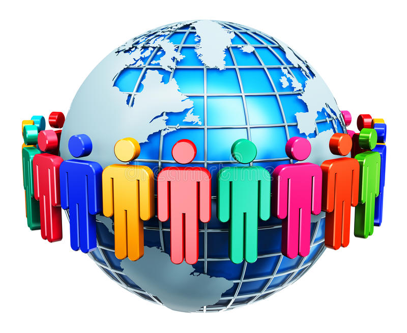 Globalnej komunikaci interneta pojęcie royalty ilustracja