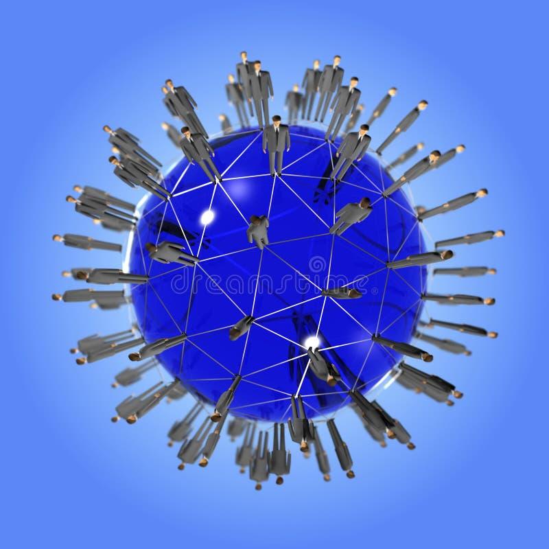 globalnej sieci ludzie ilustracja wektor