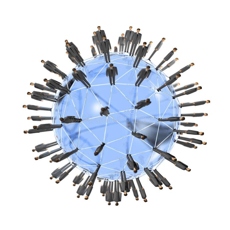 globalnej sieci ludzie royalty ilustracja