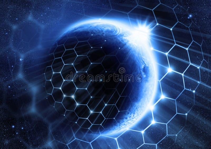 globalnej sieci rozwiązanie ilustracja wektor