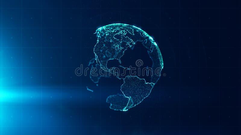Globalnej strategii biznesowej konceptualny tło royalty ilustracja
