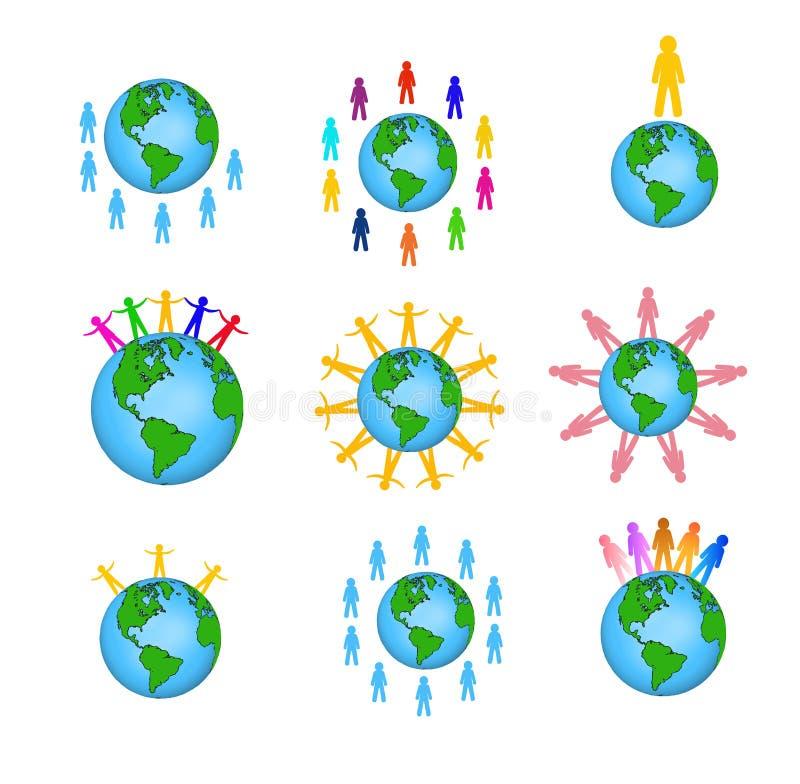 Globalni ludzie ikon ilustracji