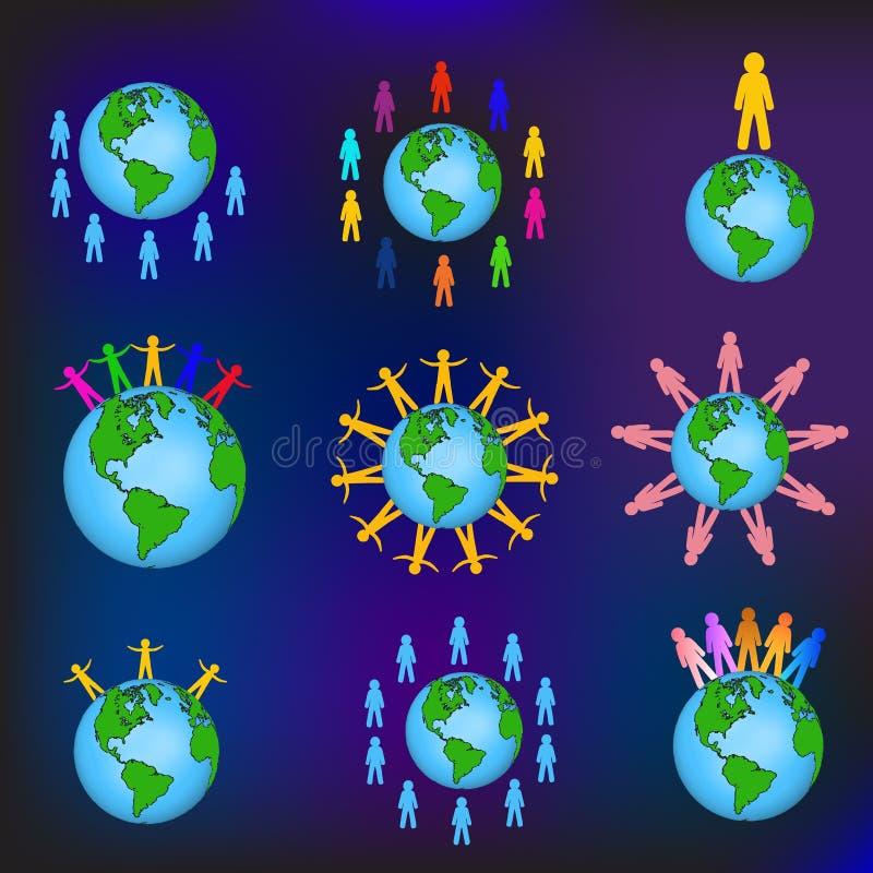 Globalni ludzie wektorowi ilustracja wektor