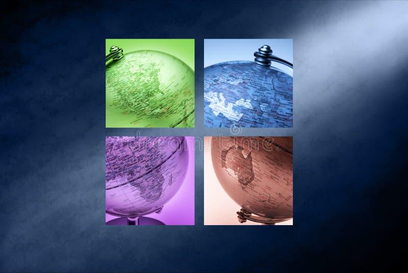 Globalny Światowy Biznesowy Tło ilustracja wektor