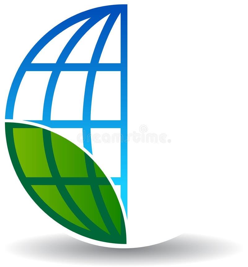 Globalny drzewny logo na bielu royalty ilustracja
