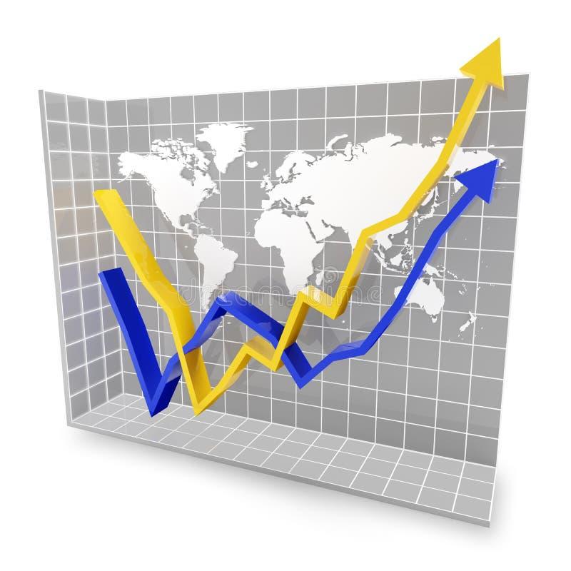 Globalny ekonomiczny odskok ilustracja wektor
